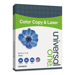 Copier/Laser Paper, 98 Brightness, 28lb, 8-1/2 x 11, White, 500 Sheets/Ream