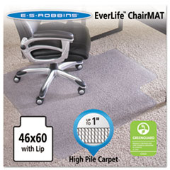 46x60 Lip Chair Mat, 24-Hour Performance Series AnchorBar for Carpet up to 1""