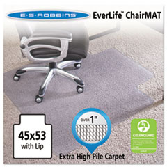 45x53 Lip Chair Mat, Performance Series AnchorBar for Carpet over 1""