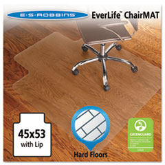 45x53 Lip Chair Mat, Economy Series for Hard Floors
