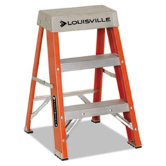 "Fiberglass Heavy Duty Step Ladder, 28.28"", Orange, 2 Steps DADFS1502"