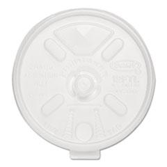 Dart Liftn'Lock Lids, 10-14oz Cups, Translucent, 100/Sleeve, 10 Sleeves/Carton DCC12FTLS