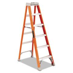 "Fiberglass Heavy Duty Step Ladder, 73.59"", Orange, 5 Steps DADFS1506"