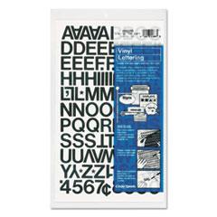 """Press-On Vinyl Letters & Numbers, Self Adhesive, Black, 3/4""""h, 94/Pack"""