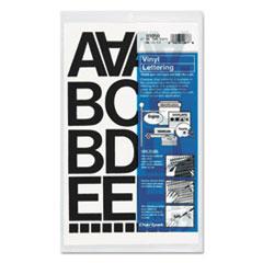 """Press-On Vinyl Letters & Numbers, Self Adhesive, Black, 2""""h, 77/Pack"""
