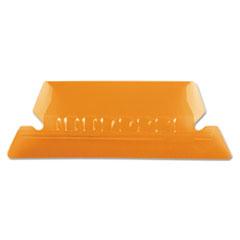 Hanging File Folder Tabs, 1/5 Tab, Two Inch, Orange Tab/White Insert, 25/Pack