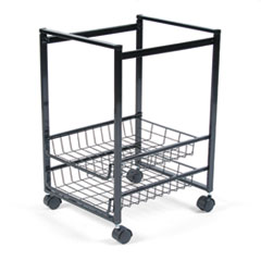 MotivationUSA * Mobile File Cart w/Sliding Baskets, 15w x 12-7/8d x 20-7/8h, Black at Sears.com