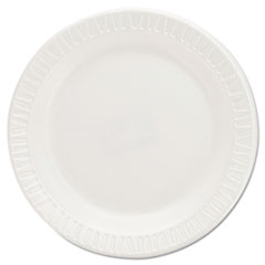 Foam Plastic Plates, 6 Inches, White, Round, 125/Pack DCC6PWQR