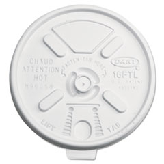 Dart Lift n' Lock Plastic Hot Cup Lids, 12-24oz Cups, Translucent, 1000/Carton DCC16FTL