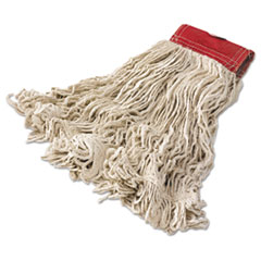 """""""Super_Stitch_Cotton_Looped_End_Wet_Mop_Head_Large_5""""""""_Red_Headband"""""""