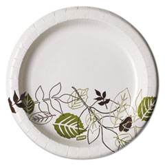 "Pathways Mediumweight Paper Plates, 8 1/2"", Pathway, 125/Pack DXEUX9PATHPK"