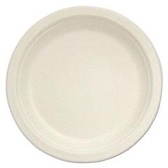 """Compostable Tableware, 10"""" Plate, Beige, 500/Box STMP005"""