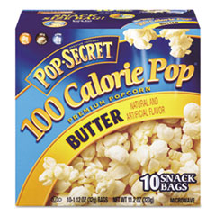 Microwave Popcorn, Butter, 1.2 oz Bags, 10/Box DFD27182