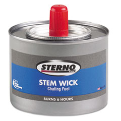 STERNO STEM WICK METHANOL CHAFING FUEL 6 HOUR BURN 24CT