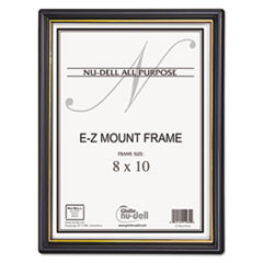 EZ Mount Document Frame/Accent, Plastic, 8 x 10, Black/Gold NUD11800