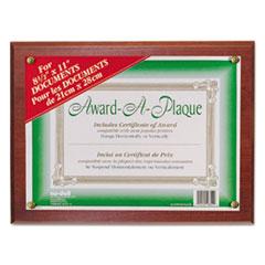 Award-A-Plaque Document Holder, Acrylic/Plastic, 10-1/2 x 13, Mahogany NUD18813M