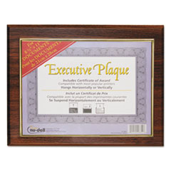 Executive Plaque, Plastic, 13 x 10-1/2, Walnut