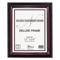 Executive Document Frame, Plastic, 11 x 14, Black/Mahogany
