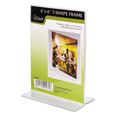 Clear Plastic Sign Holder, Free-Standing, 4 x 6 NUD38046Z