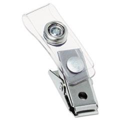 Badge Clip with Mylar Strap, Silver, 100/Box GBC1122897