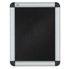 Clip-Frame Aluminum Sign Holder, 8 1/2 x 11, Silvertone QRTCF8511