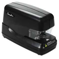 High-Capacity Flat Clinch Electric Stapler with Jam Release, 70-Sheet Cap, Black