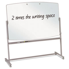 Reversible Mobile Presentation Easel, Dry-Erase, 72 x 48, White/Neutral QRT3640TE