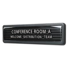 """Magnetic Wall/Desk Nameplate, Radius Edge, Dark Gray Plastic Base, 3""""h QRT9003"""