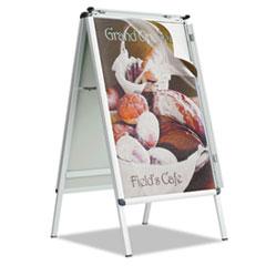 A-Frame Sign, Aluminum, 28 1/2 x 42, Silver QRTAF32