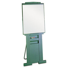 "Duramax Portable Presentation Easel, Adjusts 39"" to 72"" High, Plastic, Gray"