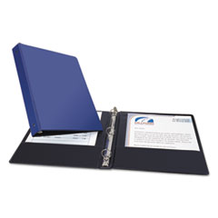 "Economy Round Ring Reference Binder, 1"" Capacity, Blue AVE03300"