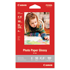 GP-601 Glossy Photo Paper, 4 x 6, 56 lb, 100 Sheets/Pack