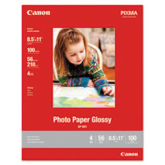 GP-601 Glossy Photo Paper, 8 1/2 x 11, 56 lb, 100 Sheets/Pack