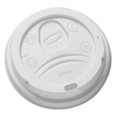 Sip-Through Dome Hot Drink Lids for 10 oz Cups, White, 100/Pack DXEDL9540