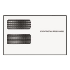 Double Window Tax Form Envelope/1099R/Misc Forms, Gummed, 9 x 5 5/8, 24/Pack