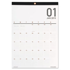Collection Wall Calendar, 12 x 17, White, 2015