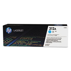 HP 312A, (CF381A) Cyan Original LaserJet Toner Cartridge