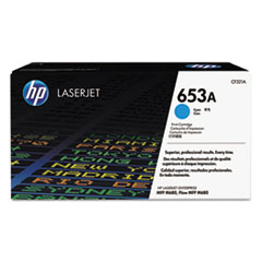HP 653A, (CF321A) Cyan Original LaserJet Toner Cartridge