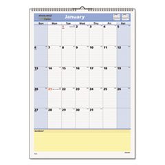 "QuickNotes Recycled Wall Calendar, 12"" x 17"", 2015"