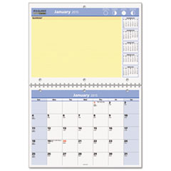 "QuickNotes Recycled Desk/Wall Calendar, 11""x 8"", 2015"