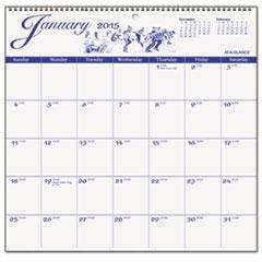 12-Month Illustrator's Edition Wall Calendar, 12 x 11 3/4, Illustrations, 2015