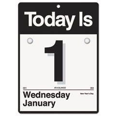 """Today Is"" Wall Calendar, 6 5/8 x 9 1/8, White, 2015"