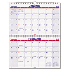 Look Forward Two-Month View Wall Calendar, 22 x 28 1/2, 2015-2016