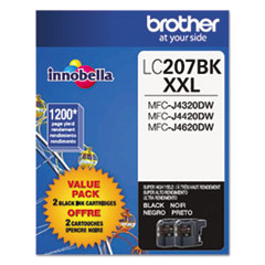 LC2072PKS Innobella Super High-Yield Ink, Black, 2/PK