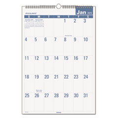 Easy-to-Read Monthly Wall Calendar, 15 1/2 x 22 3/4, Easy-to-Read, 2015