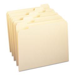 File Folders, 1/5 Cut, One-Ply Top Tab, Letter, Manila, 100/Box SMD10350