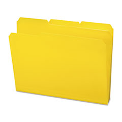 Waterproof Poly File Folders, 1/3 Cut Top Tab, Letter, Yellow, 24/Box SMD10504