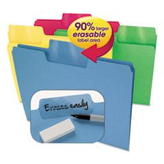 Erasable SuperTab File Folders, Letter, Assorted Colors, 24/Set SMD10480