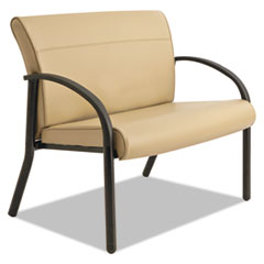 Gratzi Reception Series Bariatric Guest Chair, Taupe Vinyl