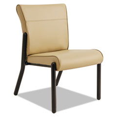 Gratzi Reception Series Armless Guest Chair, Taupe Vinyl